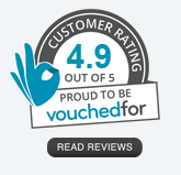 Customer Rating Badge from Vouchedfor